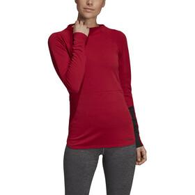 adidas TERREX Climb The City Bluza z długim rękawem Kobiety, active maroon